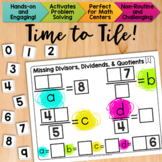 Math Tiles: Missing Divisors, Dividends, and Quotients  Ma
