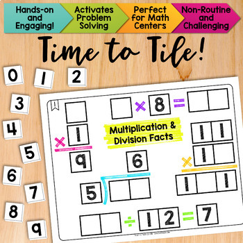 Math Tiles: Multiplication and Division Facts  Math Centers