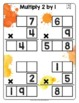 Math Tiles: Multiply 2 by 1