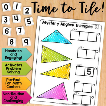 Math Tiles: Mystery Angles (Triangles) | Math Centers