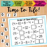 Math Tiles: Order of Operations 1 {Without Exponents}  Math Centers