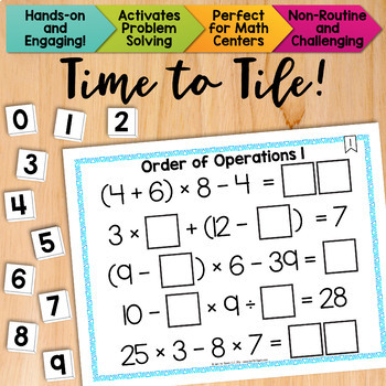Math Tiles: Order of Operations 1 {Without Exponents}  Mat