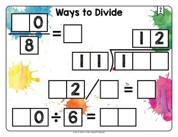 Math Tiles: Ways to Divide  Math Centers