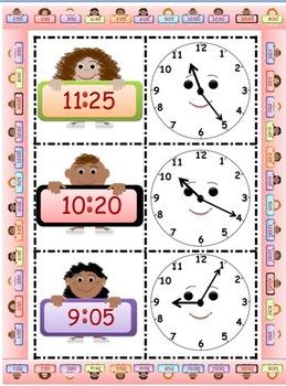 Math Time Matching Game CCSS 2.MD.7