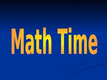 Math Time Jeopardy Game