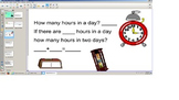 Math Time, Time Periods smart board, TEI