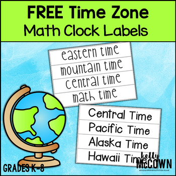 Math Time Zone Clock Labels