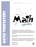 Math Timesavers - often used math forms, worksheets, and printables