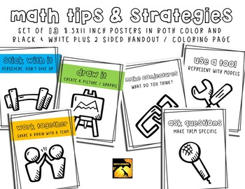 Math Tips & Strategies Posters