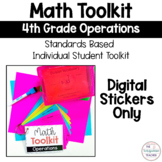 Math Tool Kit All Operations 4th Grade Digital Stickers Google Resources