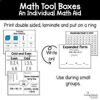 Math Tool Kit for Individual Math Aids for Place Value