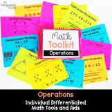 Math Tool Kit for Individual Math Aids for All Operations 3rd Grade