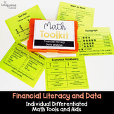 Math Tool Kit for Individual Math Aids for Financial Literacy and Data 3rd Grade