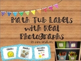 Math Tool Labels with Real Photographs