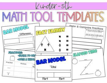 math tool templates by elem einsteins teachers pay teachers