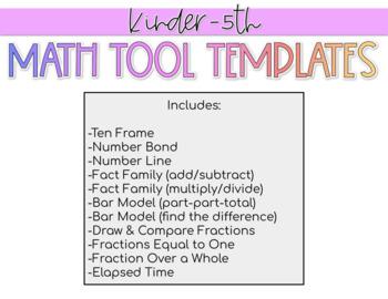 Math Tool Templates