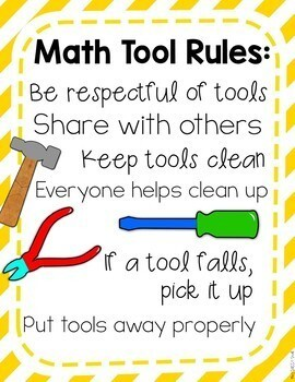 Math Manipulatives: Activities and a Craft for Setting Expectations