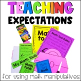 Back to School Math Manipulative Exploration and Setting Expectations Activities