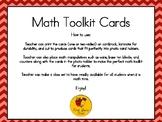 Math Toolkit Cards