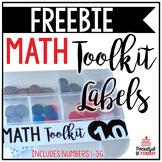 Math Toolkit Labels   FREEBIE