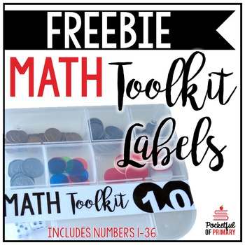 Math Toolkit Labels | FREEBIE