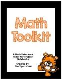 Math Toolkit / Math Reference Sheet