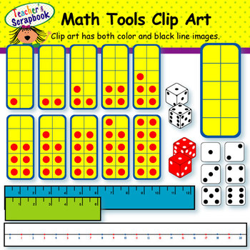 Math Tools Clip Art by TeachersScrapbook | Teachers Pay ...