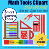 Math Tools Clip Art - Basic Color Edition