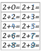 Touch Point Addition Flashcards