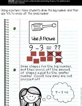 Math Tools {Subtraction}