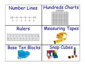 Math Tools Supply Bin Labels