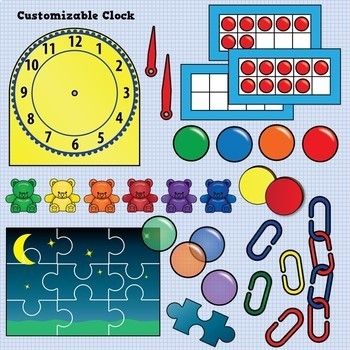 Math Tools and Manipulatives Clip Art - Huge Bundle!