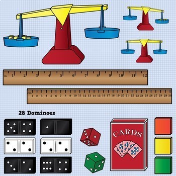 Math Tools and Manipulatives Clip Art - Huge Set!