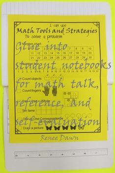 Math Tools and Strategies Checklist for Kindergarten and First Grade