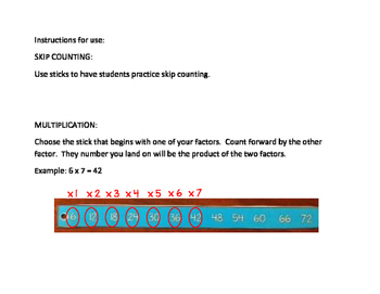 Math Tools for Skip Counting, Multiplication, Division, and Equivalent Fractions