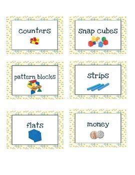 Math Tools/Supply Labels