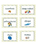 Math Tools/Supply Labels