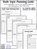 Math Topic Planning Guide