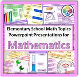 Math Topics for Elementary School Math