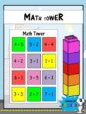 Math Tower (Addition Activity) *EDITABLE*