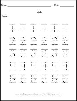 Math Tracing Numbers 1-10 ii