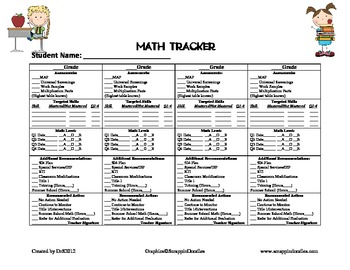 Math Tracker for Students