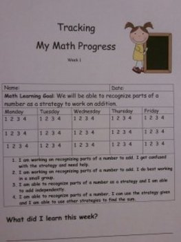 Math Tracking Progress Through Scales