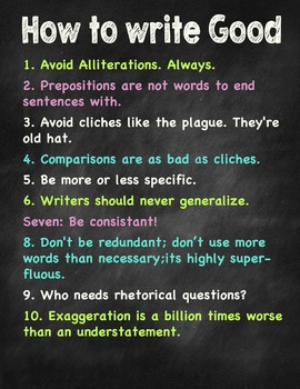 SIlly Poster for Language Arts Teachers