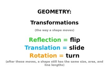Transformations PowerPoint with moving graphics