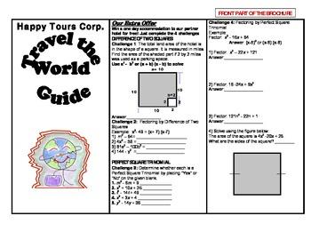 Math Travel Brochure: Factoring Polynomials