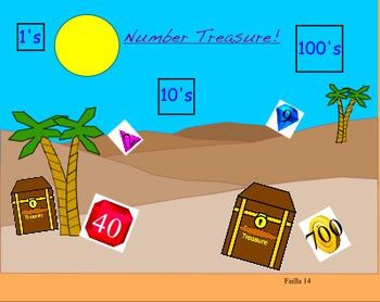 "Math Treasure Numbers 1's,10's and 100""s"