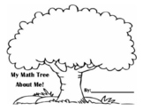 Math Tree All About Me