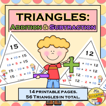Math Triangles - Addition & Subtraction