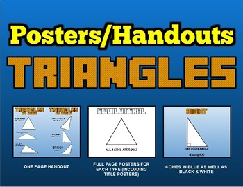 Math - Triangles: Classroom Posters/Handouts